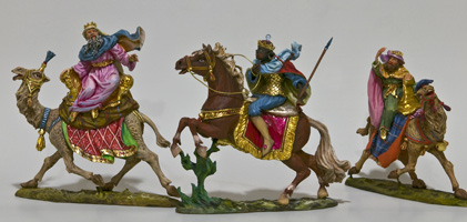 The Ride of the Magi, hand carved